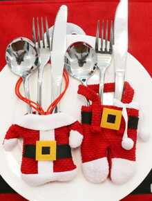 Christmas Clothing Knife & Fork Cover 2pcs