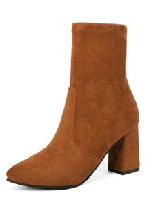 Suede Chunky Boots
