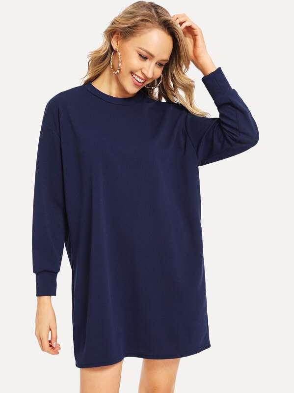 les dernières nouveautés économiser jusqu'à 60% en ligne à la vente Robe sweat-shirt unicolore