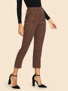 50s Plaid Pocket Side Pants