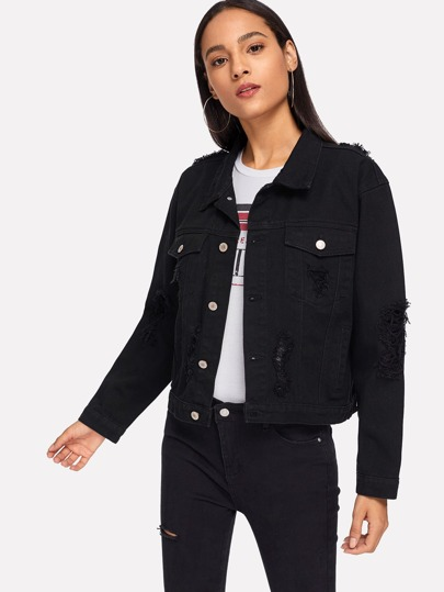 ed288aadda9 Denim Jackets | Denim Jackets Sale Online | ROMWE