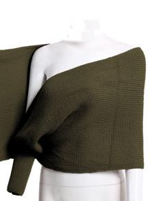 b0c47fe775 Crisscross Solid Poncho Sweater | SHEIN