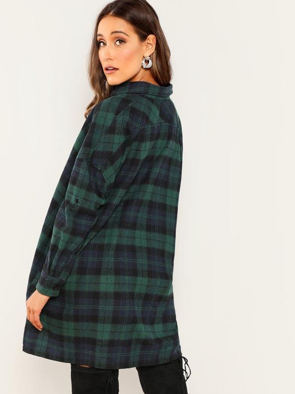 d532dc31c32 Cheap Oversized Button Front Plaid Shirt Dress for sale Australia ...