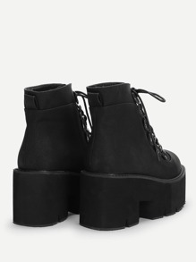Lace-Up Platform Boots   SHEIN USA