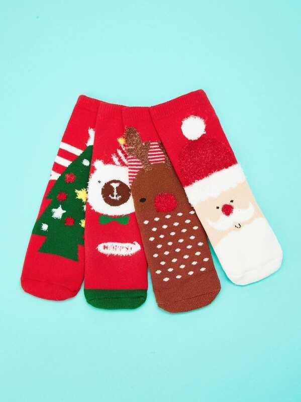 eb4e805bb61 Christmas Kids Socks 4pairs