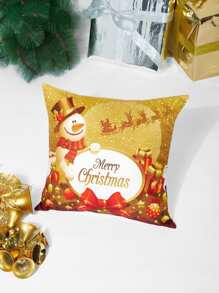 Christmas Print Cushion Cover 1PC