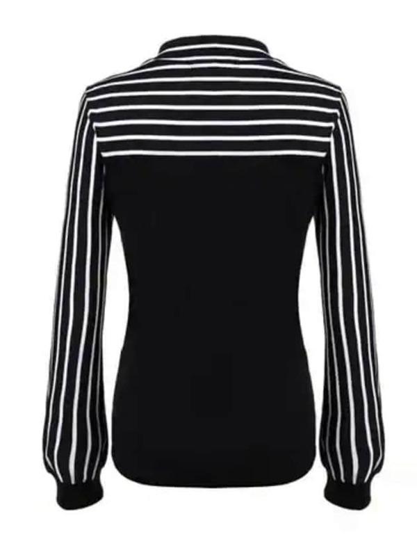 c04a578fe2 Tie-neck Striped Blouse   SHEIN