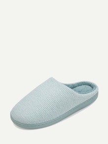 Solid Slip On Slippers