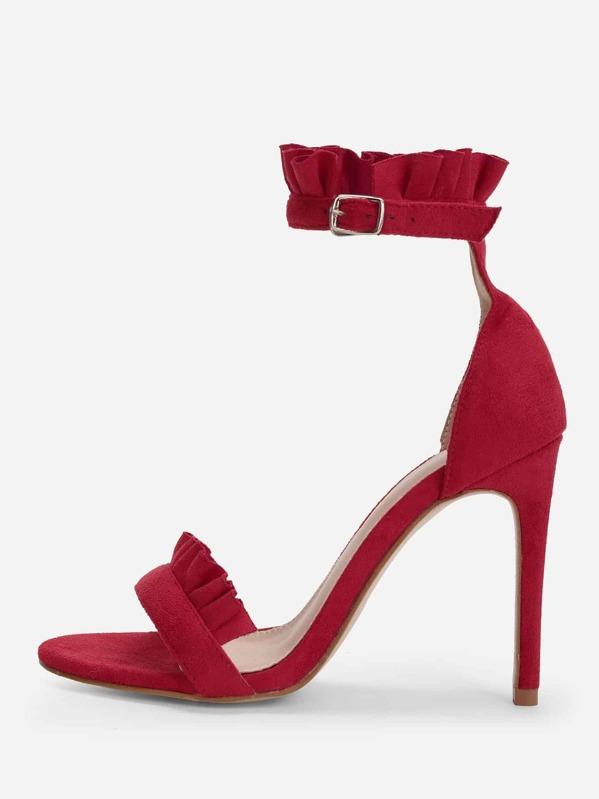 d70b039472 Frill Trim Stiletto Heels