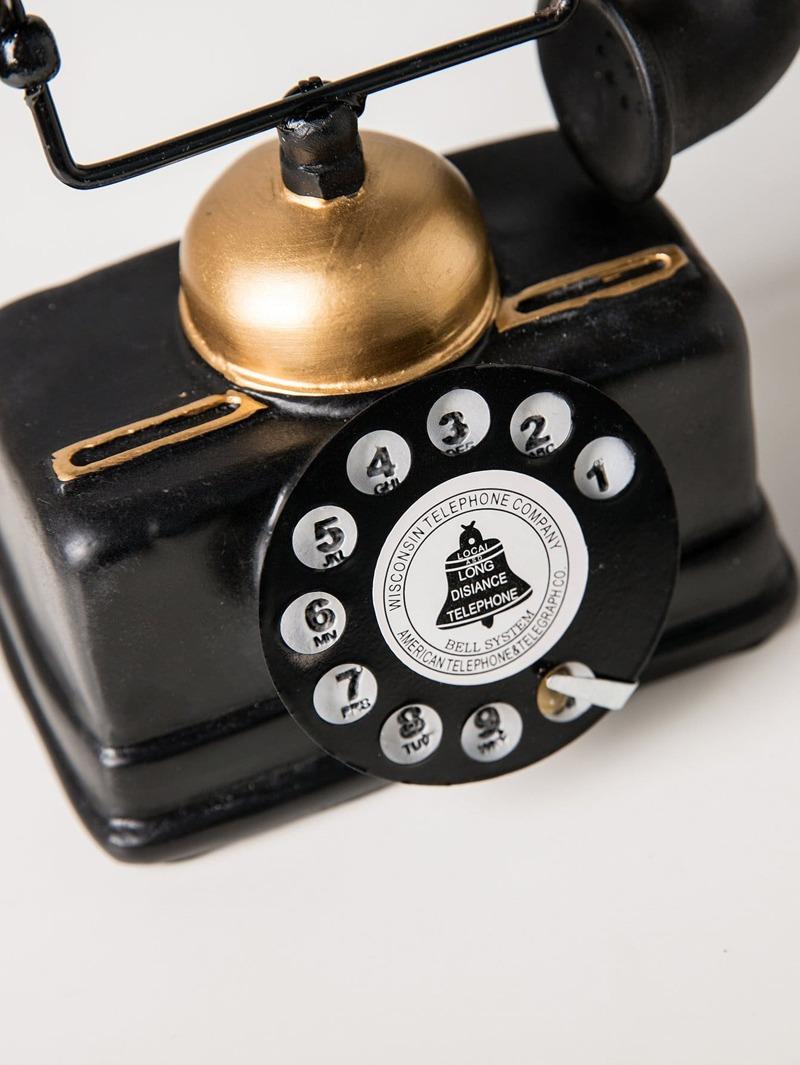 Elemento decorativo de teléfono antiguo