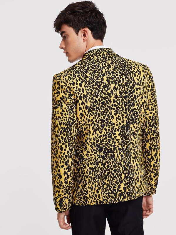 45a851732162 Men Leopard Print Blazer | SHEIN IN