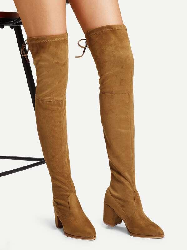 c2e537289e0 Over The Knee Self Tie Boots