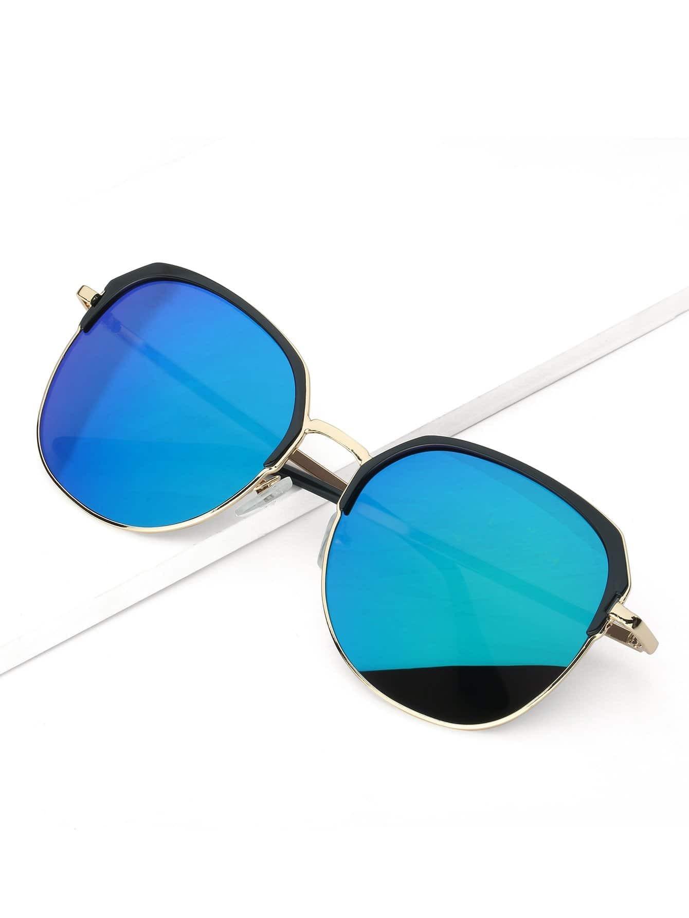 Men Mirror Lens Sunglasses