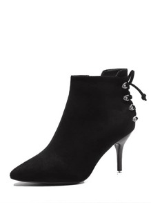 Side Zip Stiletto Heeled Boots