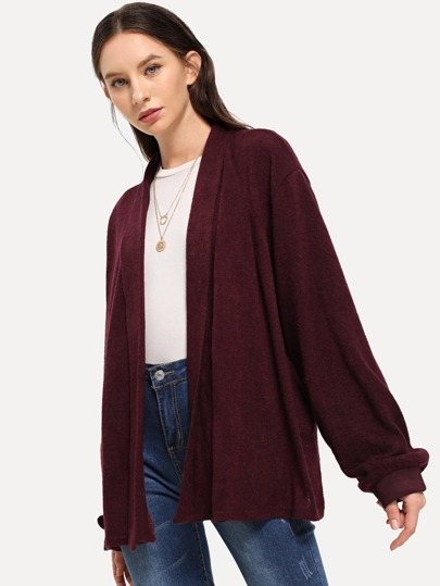 10b0c272051 Bishop Sleeve Solid Cardigan