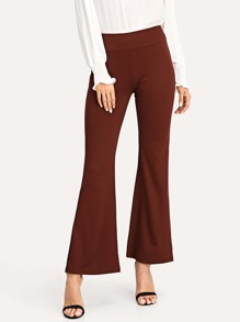 Solid Flare Leg Pants