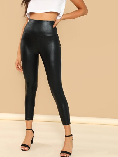 Coated Crop Leggings