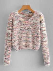 Marled Fluffy Sweater