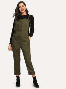 Pocket Detail Roll Up Jumpsuit