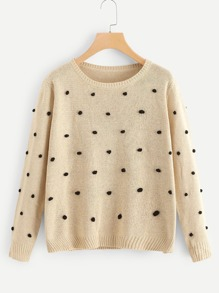 Pom Pom Detail Sweater
