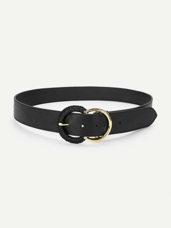 8c47636c36c Double Circle Buckle Belt | SHEIN