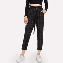INOpets.com Anything for Pets Parents & Their Pets Self Tie Plaid Pants