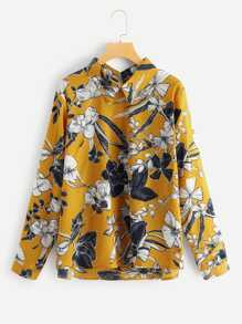 Plus Allover Floral Print Blouse