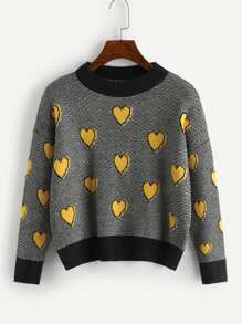 Heart Pattern Jumper