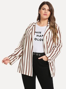Plus Varsity Striped Blazer