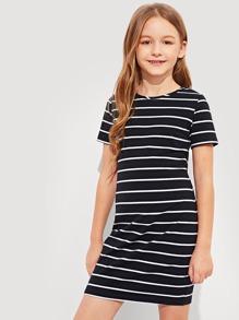 7727c085c6 Cheap Girls Striped T-Shirt Dress for sale Australia