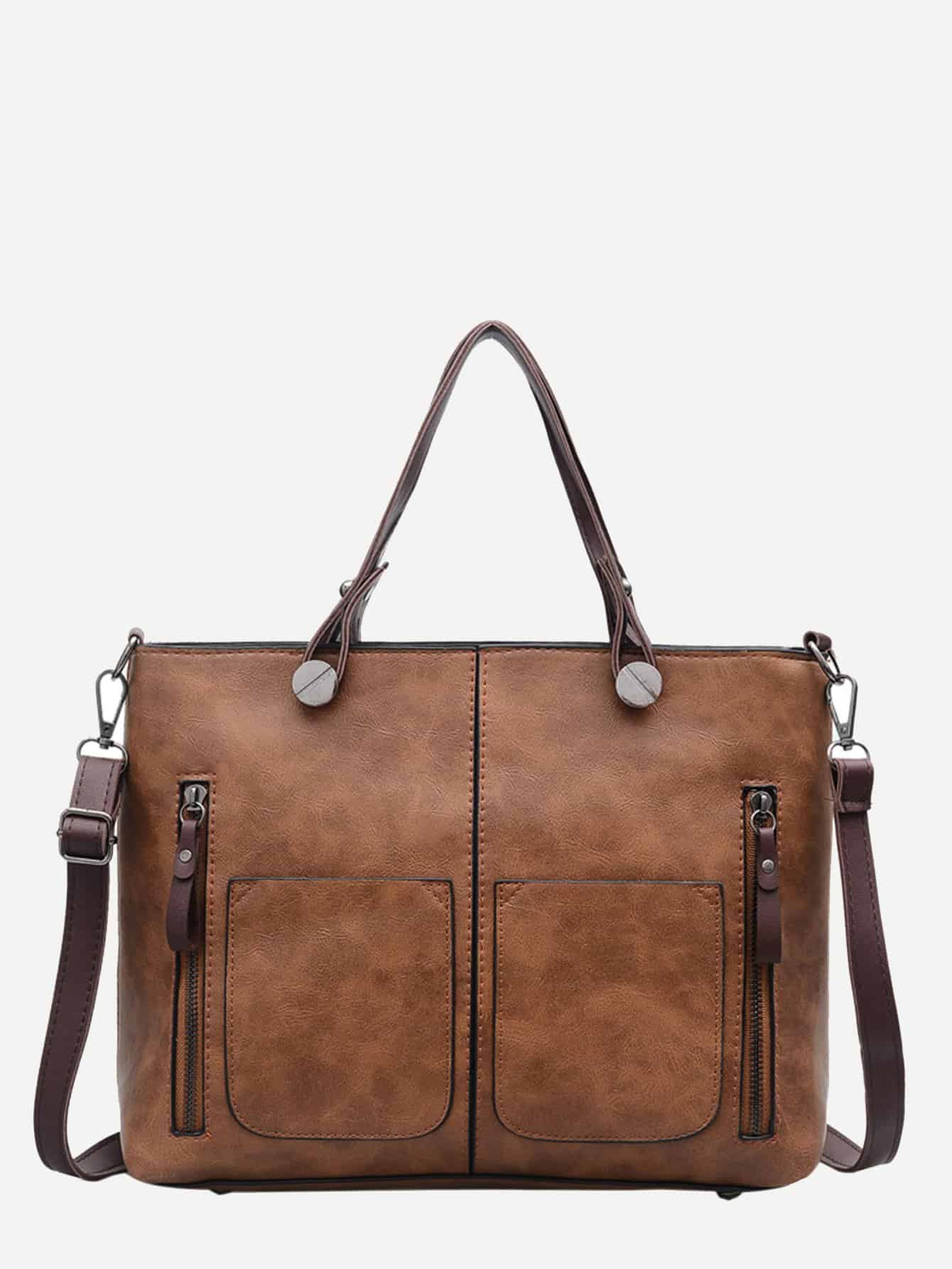 Double Zipper Tote Bag