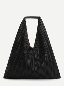 Pleated Design Tote Bag
