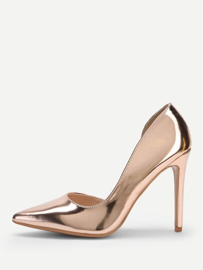 1bad0c619d71a9 Chaussures à talons aiguilles métalliques à bout pointu