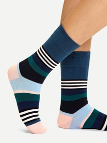 Colorblock Striped Socks
