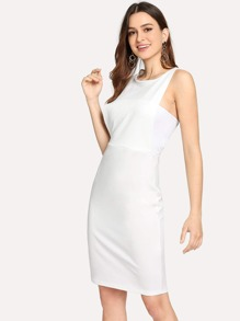 Form Fitting Solid Shell Dress