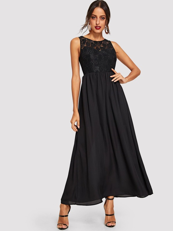 2696ba0f10 Cheap Floral Lace Top Flowy Maxi Dress for sale Australia | SHEIN