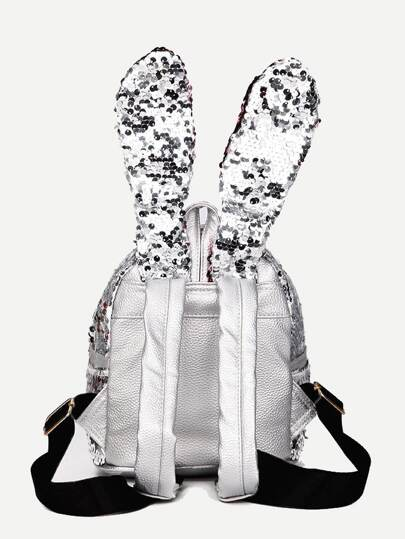 Sequins Decor Rabbit Ear Design Ryggsäck -Svenska SHEIN(SHEINSIDE) c82320ff10eb3