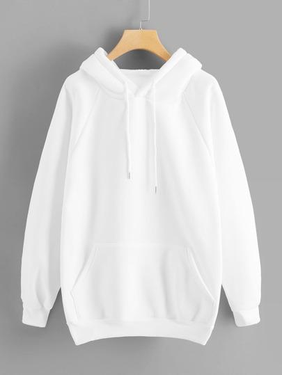 63d006117be Sweat-shirt simple à poche kangourou