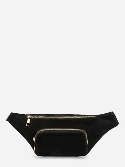 Pocket Front Zipper Fanny Pack