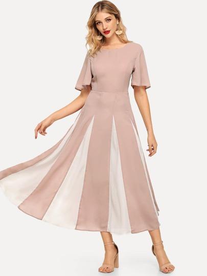 499e9509fa6 Flutter Sleeve Cut and Sew Dress