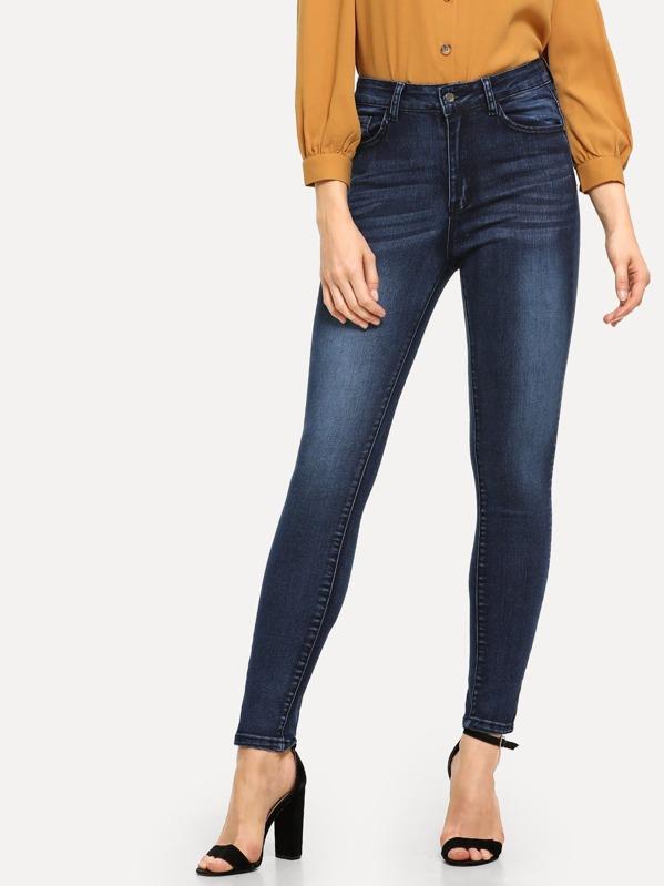 37306fadd1 Dark Wash Skinny Jeans   SHEIN IN