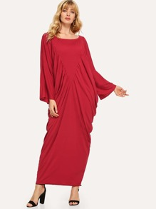 Solid Draped Cocoon Dress