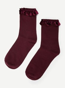 Scalloped Trim Socks