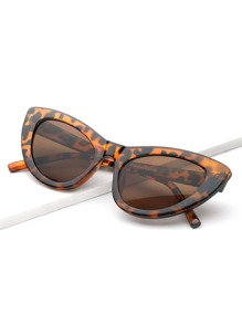Leopard Pattern Cat Eye Sunglasses