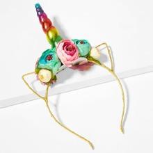 Toddler Girls Flower Decorated  Headband