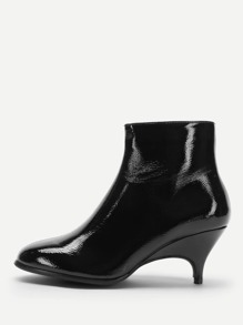 Plain Kitten Heel Ankle Boots