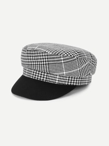 Graphic Pattern Baker Boy Hat