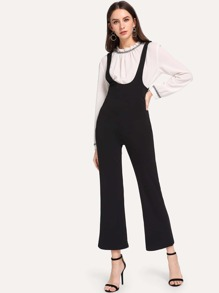 Zip Back Solid Jumpsuit