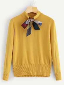 Bow Decoration Jumper