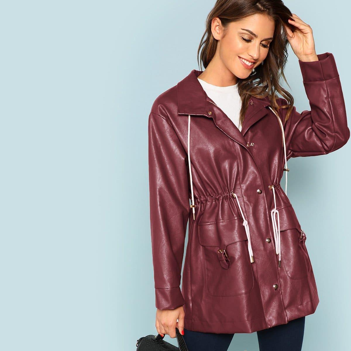 Mantel mit Kordelzug und Tasche